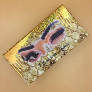 DIY Golden curtain eyelash packaging