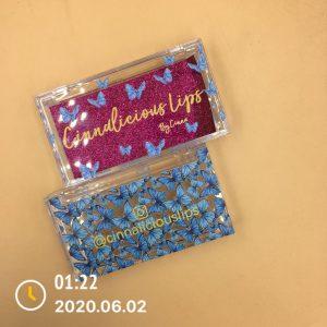 Custom logo eyelashbutterfly packaging boxes